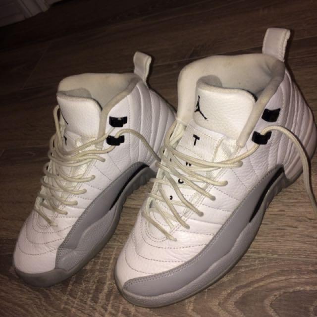 Jordan 12 Grey/White-Black
