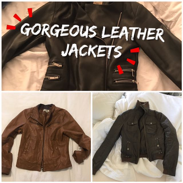 Leather jackets! Perfect for a Sydney spring.