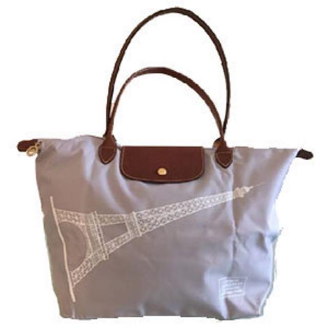 "Longchamp Le Pliage Large Limited Edition ""Eiffel Tower"" Bag"