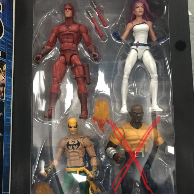 "HASBRO MARVEL LEGENDS 6/"" THE DEFENDERS Daredevil Luke Cage Jessica Jones figure"