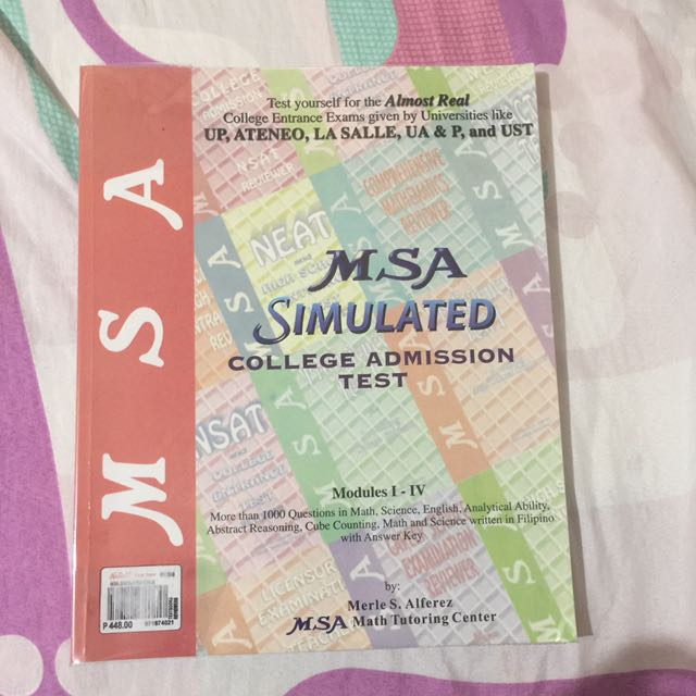Msa simulated college entrance exam reviewer