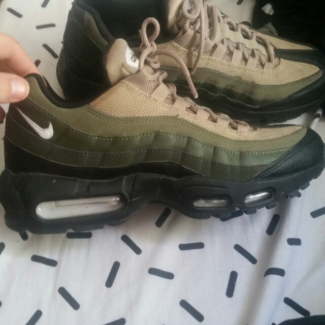 new concept b6fcb 64a4a Nike airmax 95 khaki and olive green, Men's Fashion ...