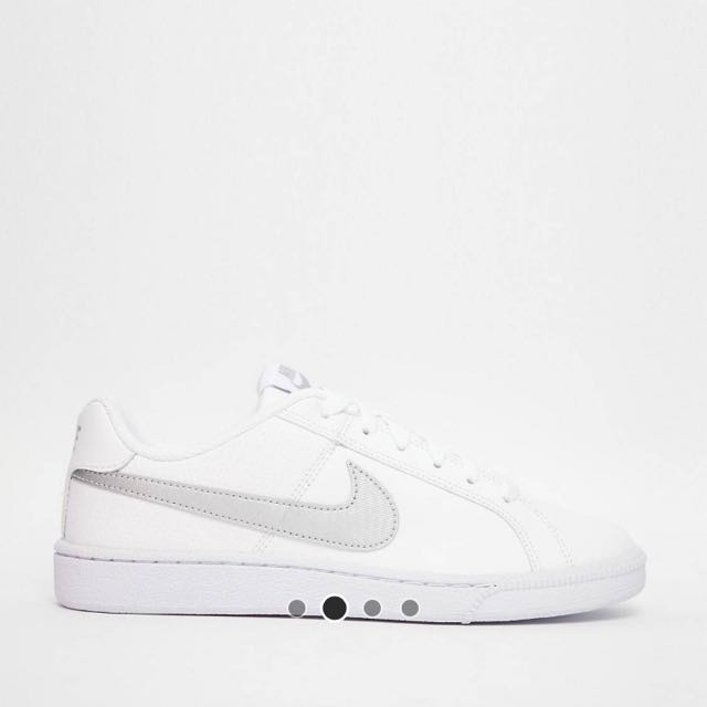 724d65d05d7 Nike Court Royale Trainers in White and Silver