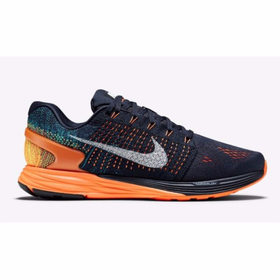 newest collection f8a15 a17e1 Nike Lunarglide 7 VII Obsidian Orange Men's Running Shoes size US 10.5
