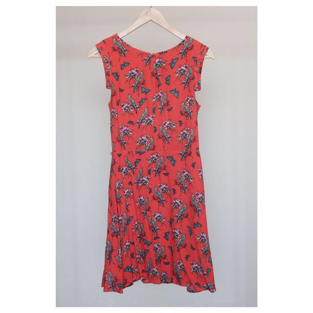 OASIS Sleeveless Flower Dress