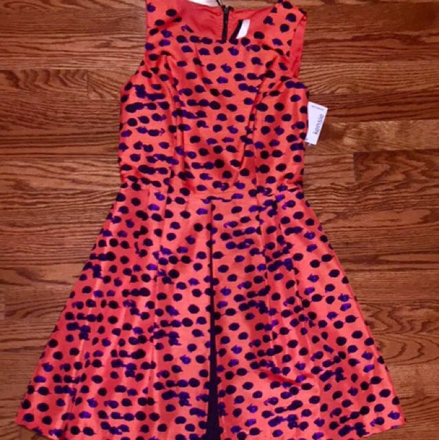 Orange Patterned Kensie Dress