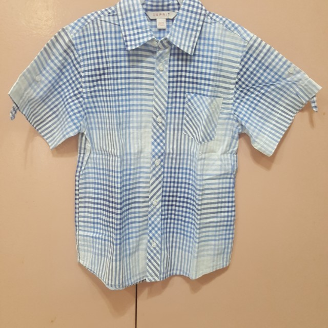Orig Esprit checkerrd polo 4-5 yo