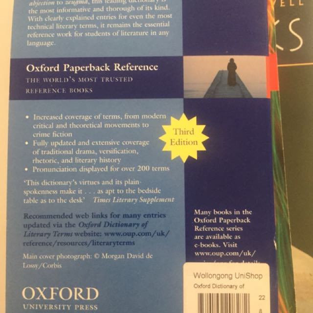 Oxford Dictionary of Literary Terms, Textbooks on Carousell