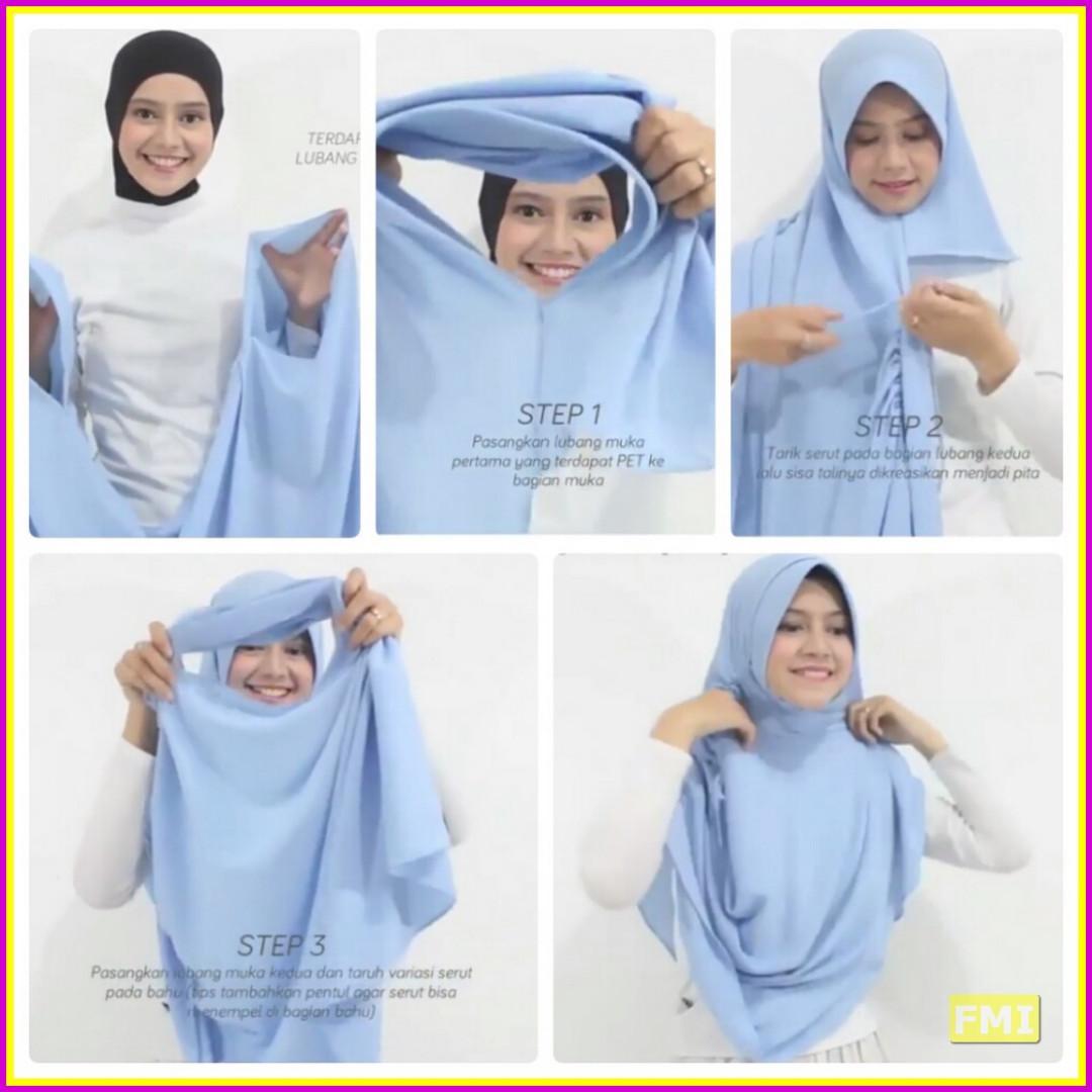 Pashmina Instant Pastan Sherina Olshop Fashion Muslim Di Instan 2 Lubang Face Carousell