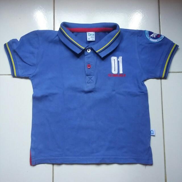 polo merk QNA size 4 tahun hanya dipakai 2x