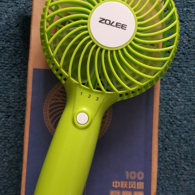 Portable usb rechargeable hand fan