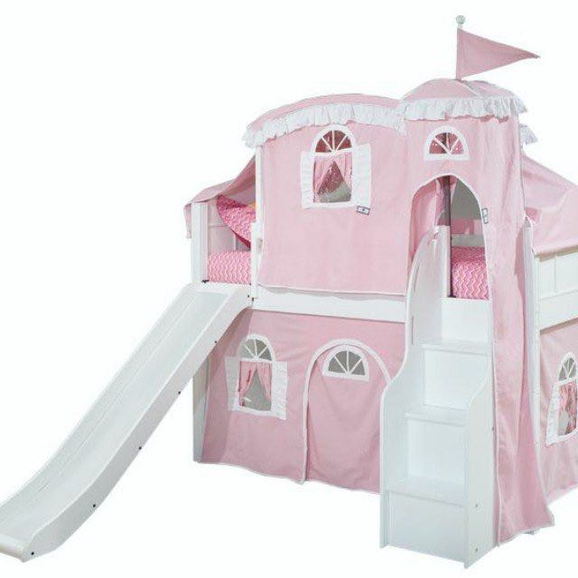 Princess Castle Loft Bed With Slide Furniture Beds Mattresses On