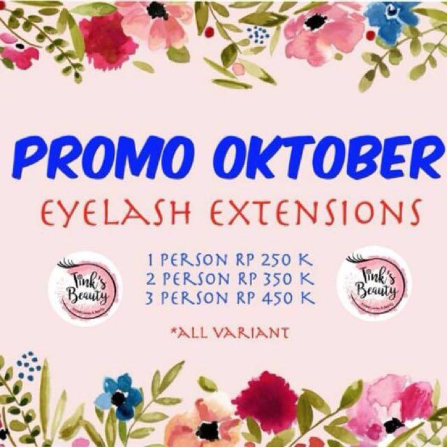 Promo eyelash extentions
