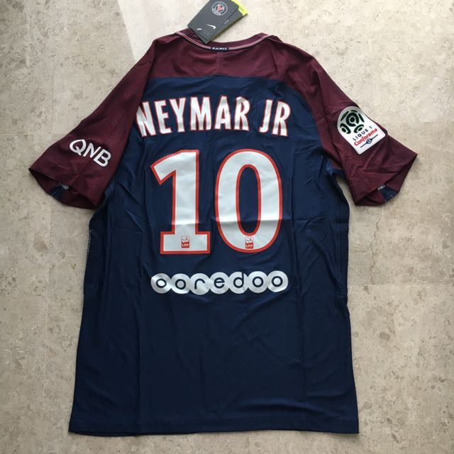 sale retailer d9e16 8b5a0 PSG Ligue 1 NEYMAR JR Home Jersey