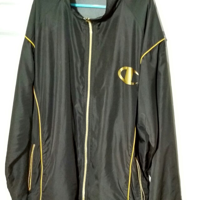 *RARE* Champion Track Top Black and Gold
