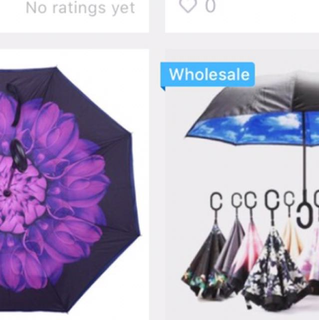 REVERSIBLE UMBRELLA, all colors and design available