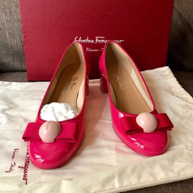 Salvatore Ferragamo Pink-Magenta Shoes