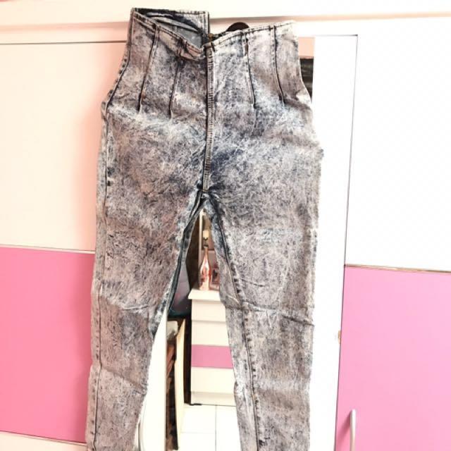 Skinny jean light blue