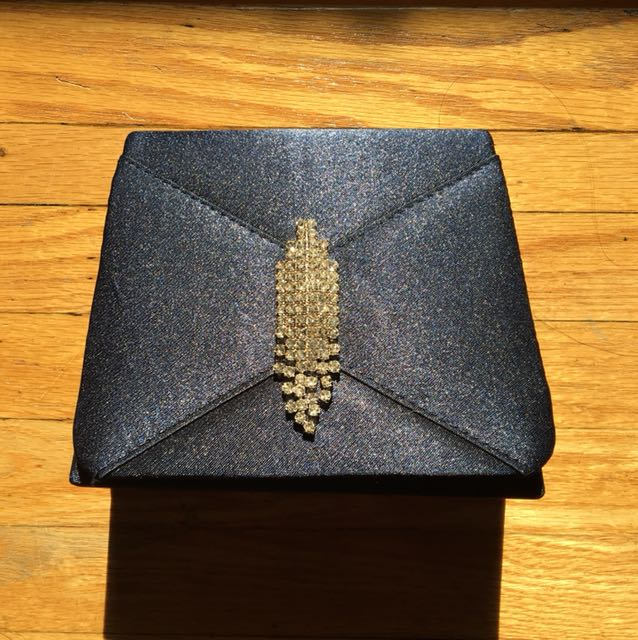 Small navy clutch purse