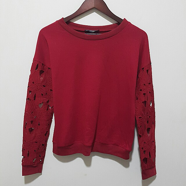 Something Borrowed Sweatshirt dark red