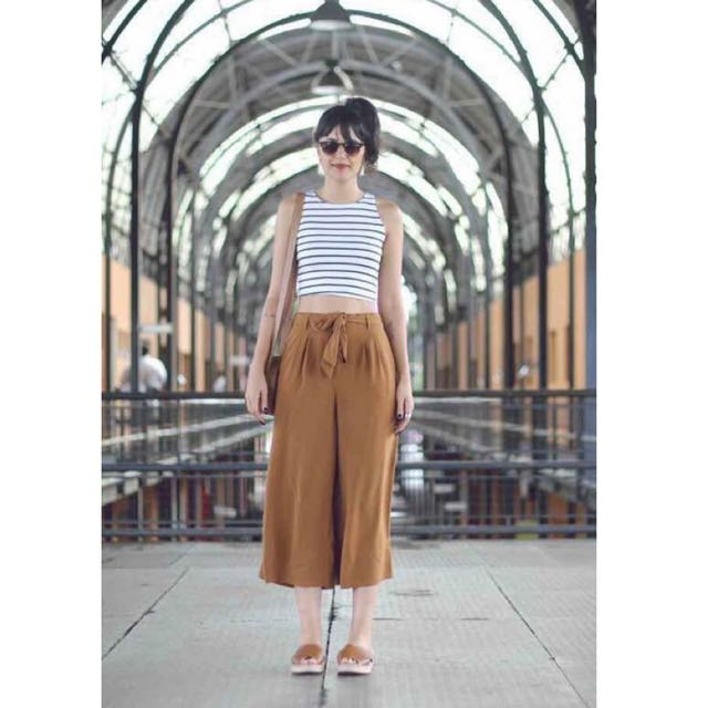 💕Stripe Croptop with Square Pants Terno 💕