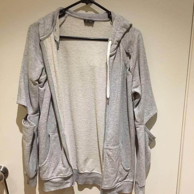 Stylish Bardot Grey Jacket