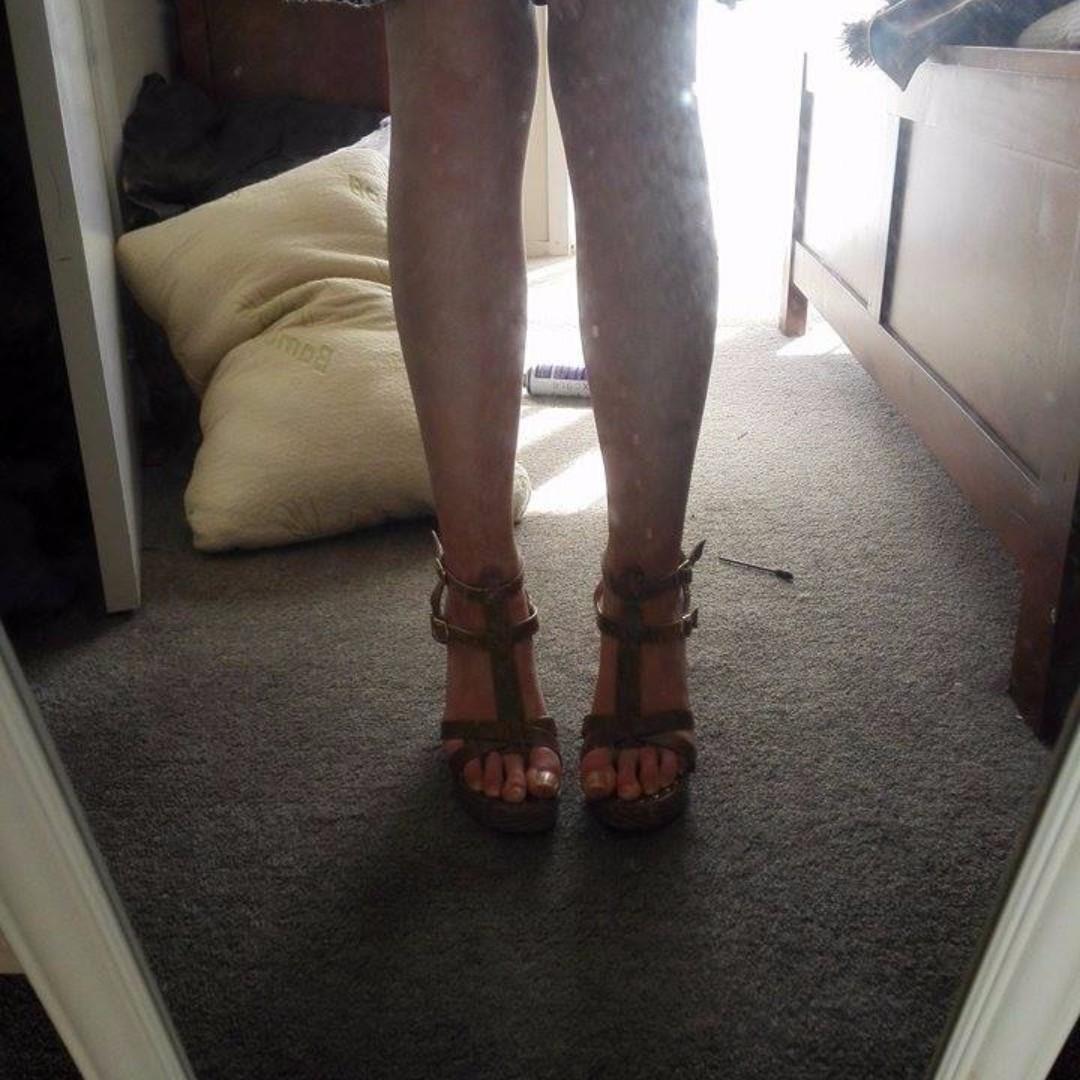 Summer Tan Wedges
