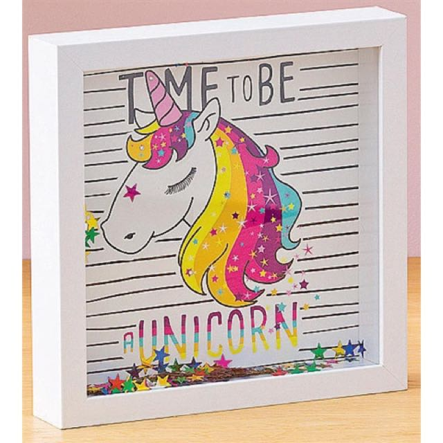 """Time To Be A Unicorn"" Shadow Box"