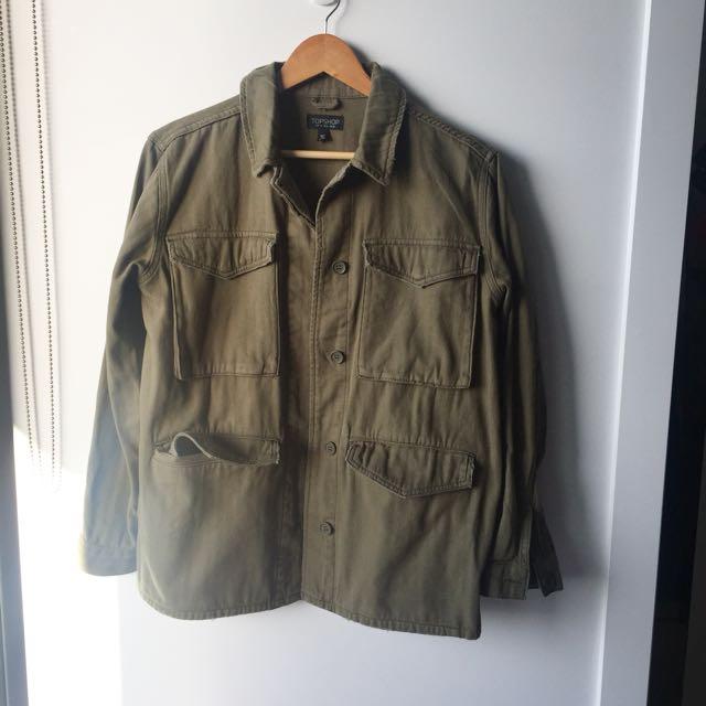 Topshop Khaki jacket 38