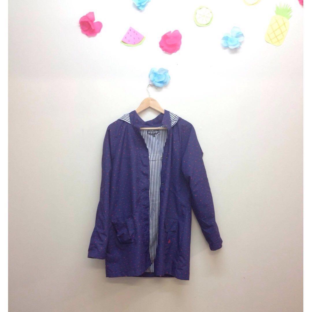 Volcom purple raincoat