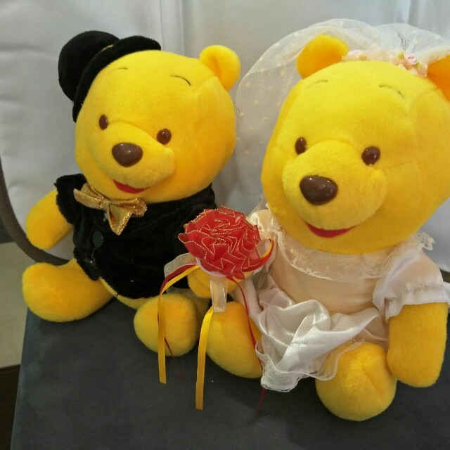 Winnie the Pooh wedding soft toy, Babies & Kids, Toys & Walkers on ...