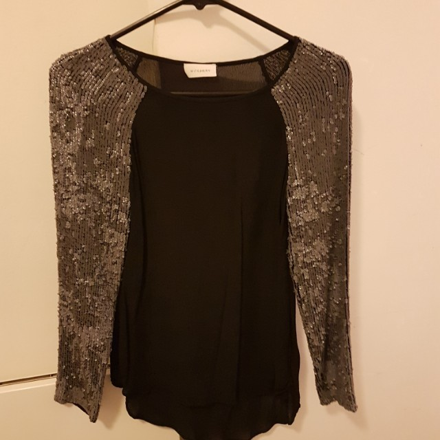 Witchery sequin top x small