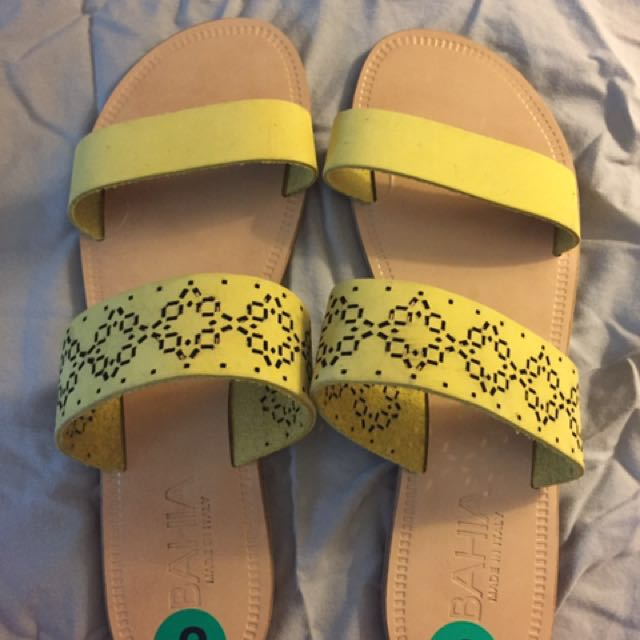 Yellow Leather Sandals NBW