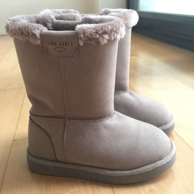 b362dda75d54e Zara Winter Boots, Babies & Kids, Girls' Apparel on Carousell