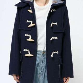 [全新] Ne-net 日本 名牌 漁夫褸 牛角褸 外套 duffle coat 深藍 日本