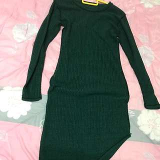 Knitted Longsleeve midi dress