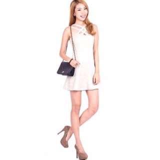 👗: (WORN ONCE) Ohvola Jardin Shimmer Dress - Champagne Size S