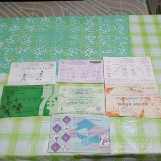 香港童軍總會不同年份獎券