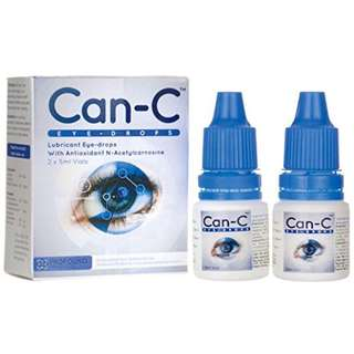 CAN-C Eye Drops  Cataract reversal without surgery - Can-C Lubricant Eye Drops with N-Acetylcarnosine, 2 x 5 ml Vials