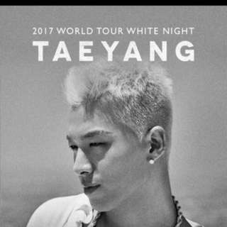 [WTS] TAEYANG WHITE NIGHT IN SG VIP TIC WITH SEND OFF