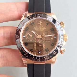 面交 高端奢侈品 Rolex 迪通拿 啡面 116515 膠帶 116515LN 計時 40mm