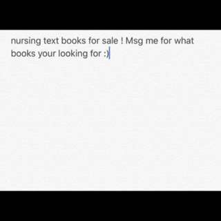 Nursing text books for sale