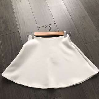 American Apparel White Skirt