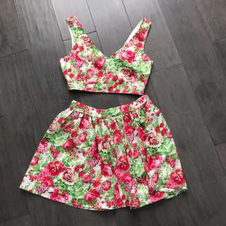 Floral Two Piece Set