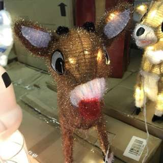 18 in. Rudolph Pre-Lit with Blinking Red Nose