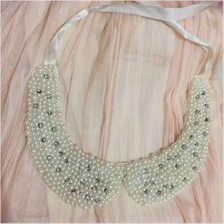 Pearl Fake-Collar (kera Kemeja)