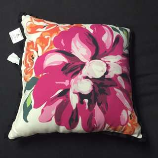 Two Floral Decorative Pillows