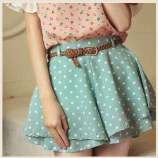 Sweet Polka Dots Two-layer shorts skirt
