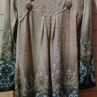 Dress bahan beludru no label