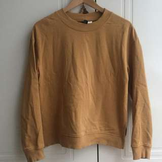 H&M Divided Mustard Sweater Size S 6-10